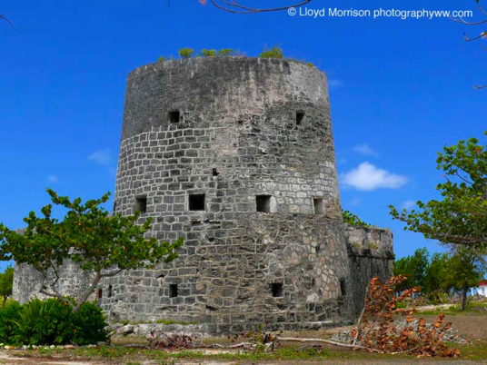Martello Tower at River Fort on Barbuda